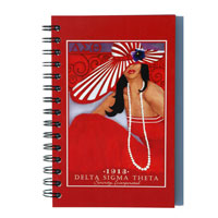 spiral bound board cover notebook with full-color digital print