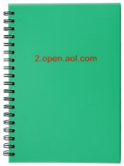 spiral journal with translucent green cover and custom screen printing