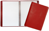 Red Classic Leather Blank Journal