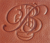 blind debossing on a leather journal cover