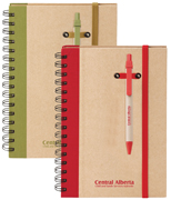 recycled journal with green trim, recycled journal with red trim