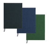 Black, Navy Blue and Green Large Imitation Leather Journals