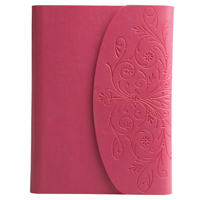 foldover style journal with green textured leather cover