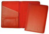 red classic leather journal covers new