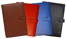 British tan, red, blue, black leather journals notebooks
