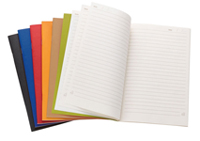 single-meeting recycled notebooks with a variety of cover colors
