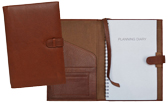 inside and outside view of Forever journal with british tan leather cover